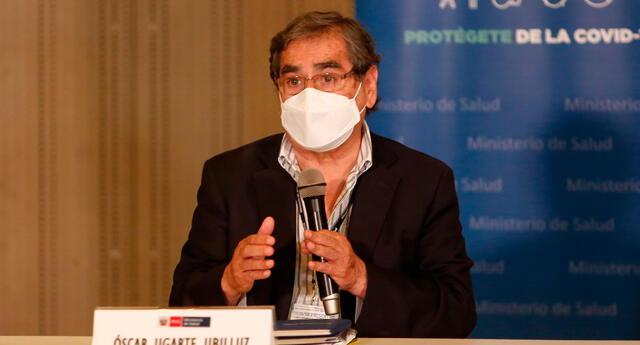 Óscar Ugarte, ministro de Salud.