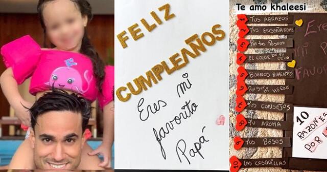 Gino Assereto celebra su cumpleaños número 36, al lado de su pequeña hija.