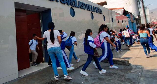Las clases presenciales en los colegios iniciarán el 19 de abril.