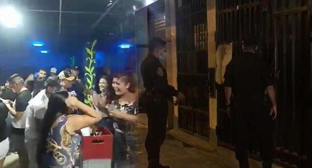 Mujeres y hombres festejaban en fiesta COVID-19 en Los Olivos.