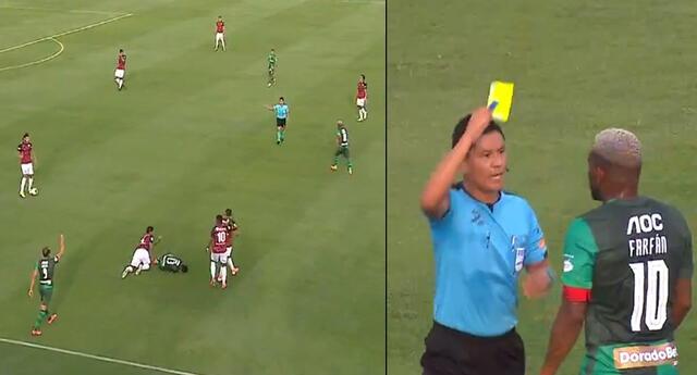 Jefferson Farfán vio por primera vez la tarjeta amarilla en la Liga 1 2021.