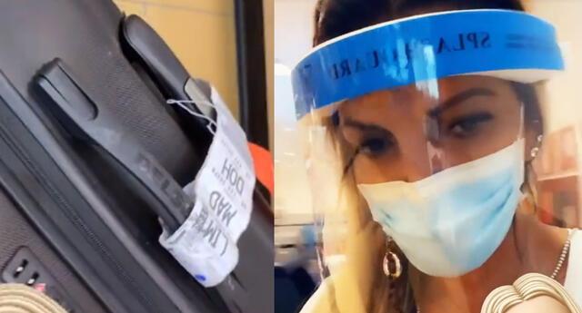 Jessica Newton sufrió el robo de sus objetos en el aeropuerto. Foto: capturas Instagram / Jessica Newton