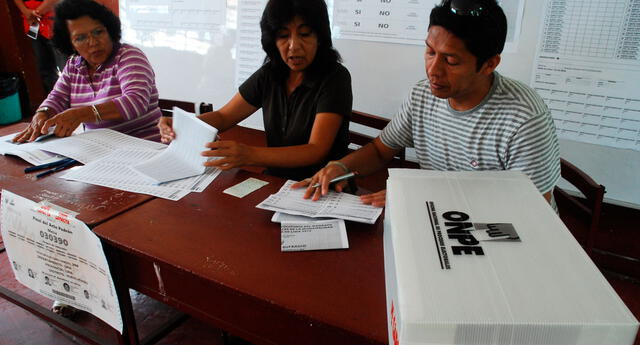 Los miembros de mesa en las elecciones 2021 recibirán una bonificación de S/120.