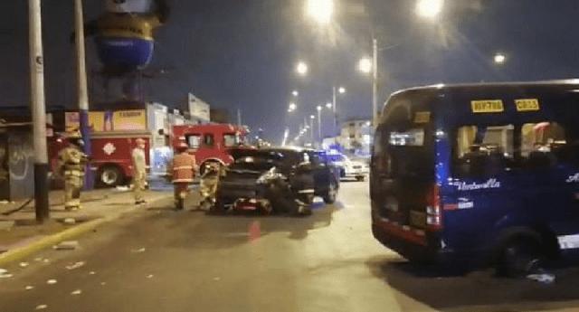 El accidente de tránsito se produjo a la altura de la cuadra 7 de la avenida Argentina.