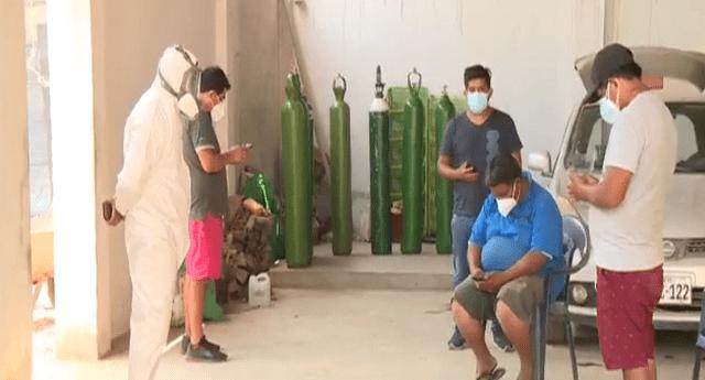 Hijos venden terrenos para conseguir oxígeno medicinal para sus padres contagiados de COVID-19