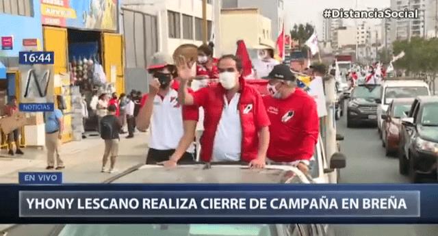Yonhy Lescano recorre calles de Pueblo Libre como parte de cierre de campaña.