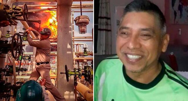 Deckar Israel Hernández Soto sufrió quemaduras de segundo grado.