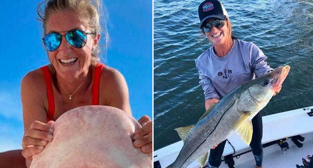 Indignación en redes sociales por mujer que mata a tiburones.