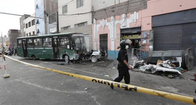 Cercado de Lima: un fallecido y 6 heridos dejó despiste de bus Urbanito