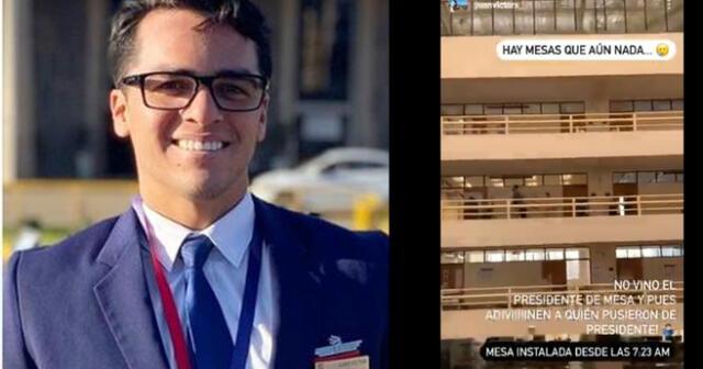 Juan Víctor cumple su deber cívico en Elecciones 2021.