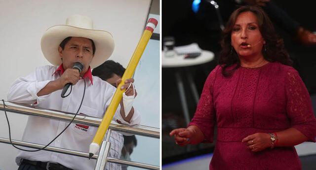 Pedro Castillo estaría acompañado de Dina Boluarte en un eventual gobierno de ganar las elecciones 2021.