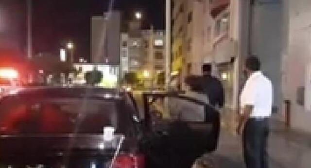 Diana fue trasladada en un taxi a la Clínica Providencia de San Miguel.