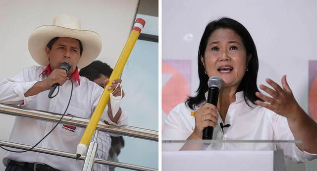 Pedro Castillo y Keiko Fujimori competirán en la segunda vuelta para ejercer el cargo de presidente de la República.