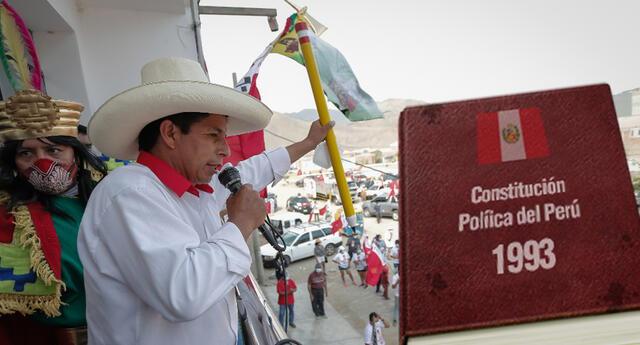 Pedro Castillo buscará la opinión del pueblo peruano para cambio de Cosntitución.
