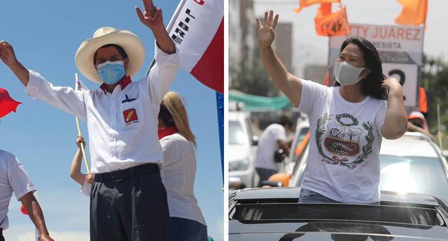 Pedro Castillo y Keiko Fujimori competirán en una segunda vuelta por la presidencia de país.