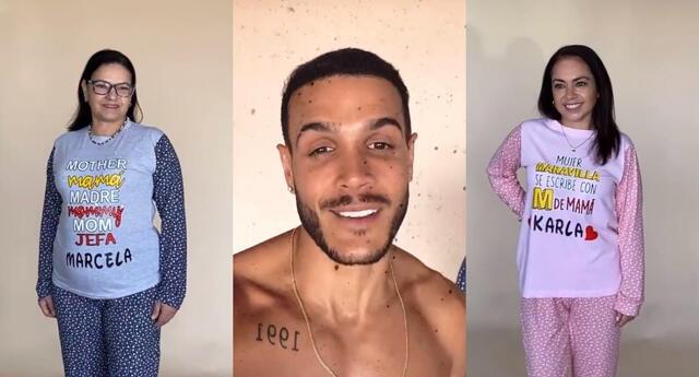 """Mario Irivarren llamó """"sus modelos favoritas"""" a sus familiares, quienes protagonizan su campaña del """"Día de la madre""""."""