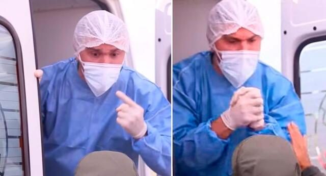 El doctor argentino se enfrentó a los turistas que impedían avanzar con pacientes en una ambulancia.