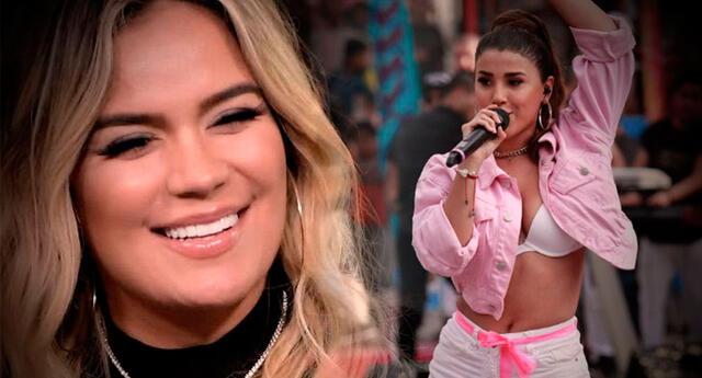 Karol G envió mensaje a las niñas que desean ser cantantes, y Yahaira Plasencia lo reposteó.