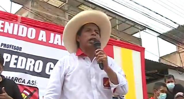 Pedro Castillo realiza campaña electoral en Cajamarca.