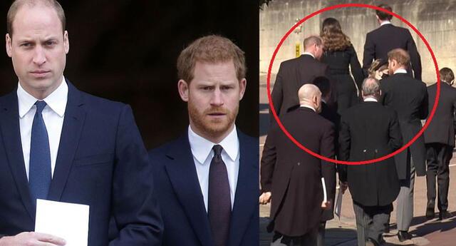 Príncipe Guillermo y Enrique: Así fue el reencuentro de los hermanos en el funeral del príncipe Felipe.