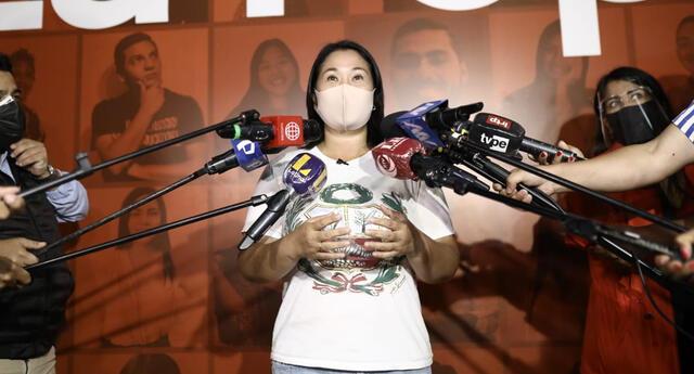 Tras los resultados de la ONPE, se oficializó la participación de Keiko Fujimori en la segunda vuelta de las elecciones 2021. Se disputará la presidencia contra Pedro Castillo, de Perú Libre.
