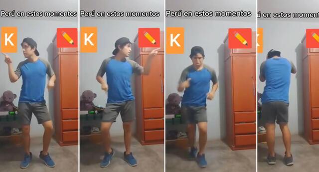 Peculiar video del joven bailando se viralizó en las redes sociales.