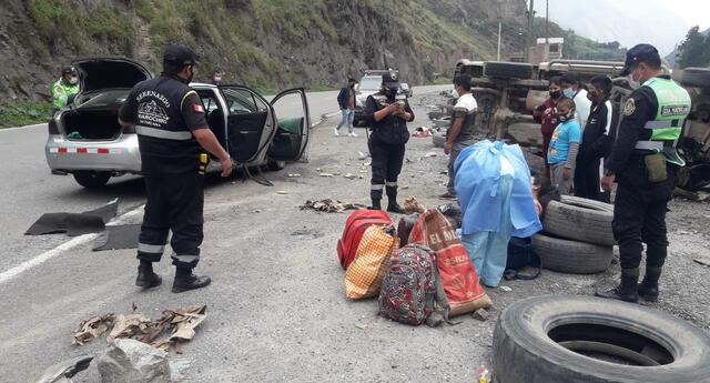 Accidente de tránsito en Carretera Central, en Matucana, deja 5 personas heridas.