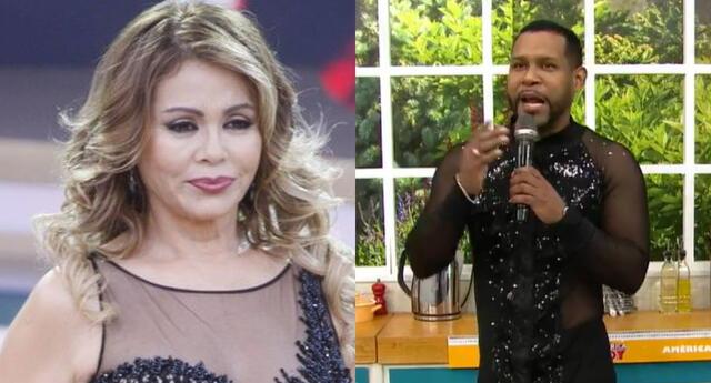 Giselo vistió con llamativos trajes para estar en El Artista del Año y Gisela Valcárcel llamó a América Hoy para trolearlo en vivo.