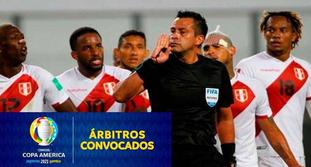 Copa América dio lista de árbitros.