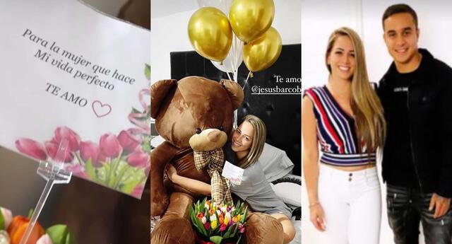 Melissa Klug recibió un oso de peluche grande y flores de Jesús Barco tras superar la COVID-19, y se mostró muy emocionada en redes sociales.