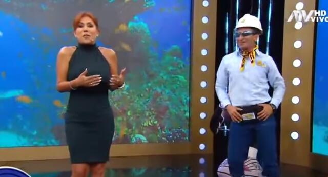 Magaly Medina no quiso bailar al lado del 'ingeniero bailarín'.