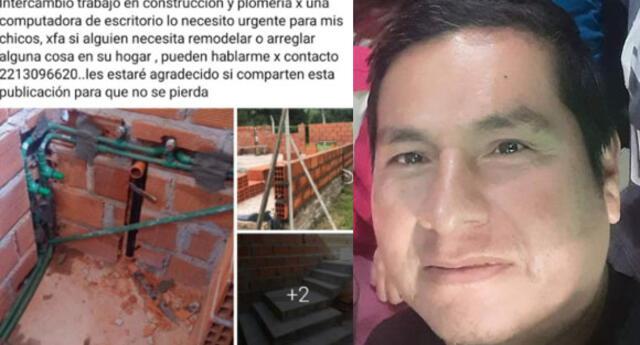 Argentina: padre ofrece sus servicios como obrero a cambio de una computadora para su hijo.
