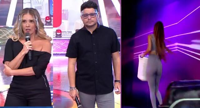 Gian Piero Díaz y Johanna San Miguel sobre Rosángela Espinoza.
