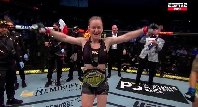 Valentina Shevchenko defendió su título de Peso Mosca en la UFC.