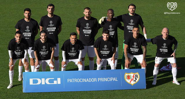Rayo Vallecano salvó un empate en casa casi al final del partido.