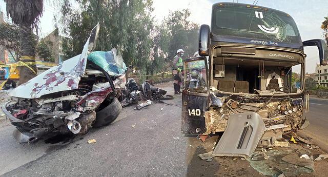Dos jovenes mueren en accidente vehicular en la Carretera Central de Chaclacayo.