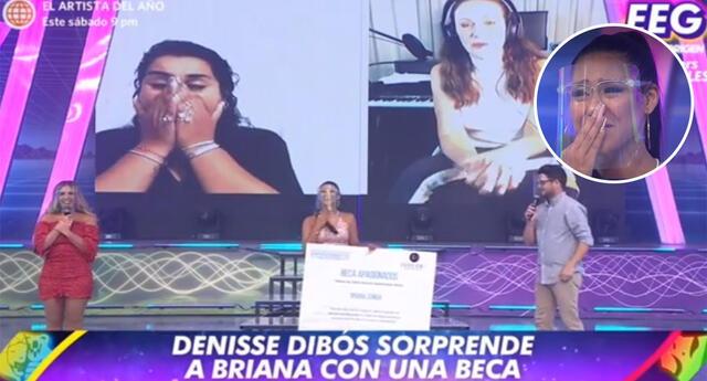 EEG: Denisse Dibós regala beca de estudios a participante del concurso de TikTok