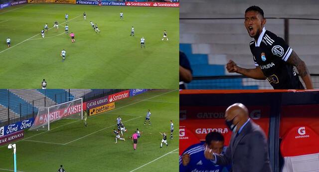 Christofer Gonzáles puso el empate 1-1 ante Racing por la Copa Libertadores.