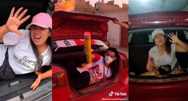 Las imágenes de Yahaira Plasencia escondida en una maletera de auto tras una intervención policial son tendencia..