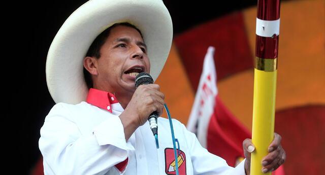 Pedro Castillo, candidato a la presidencia por Perú Libre.
