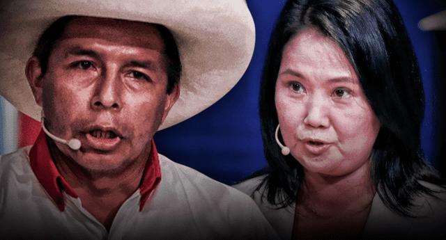 Pedro Castillo y Keiko Fujimori llegaron a la plaza de armas para el encuentro