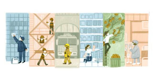 Día del Trabajador: Google celebra el 1 de mayo con un doodle en homenaje a los trabajadores.