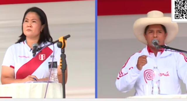 Debate entre Castillo y Keiko sacó chispas en Chota.
