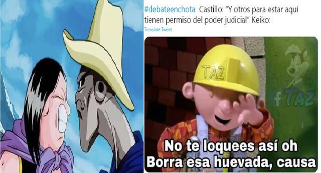 Los mejores memes del debate en Chota entre Pedro Castillo y Keiko Fujimori.