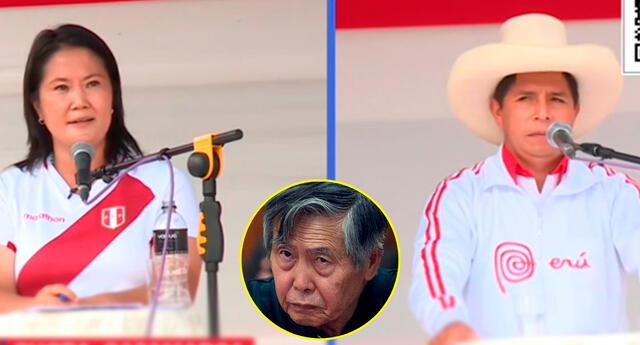 El candidato por Perú Libre, Pedro Castillo, le recordó a Keiko Fujimori que su padre Alberto Fujimori renunció a la presencia vía fax desde Japón.