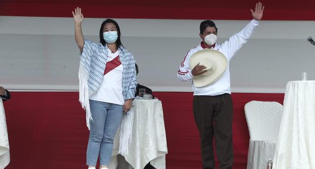 Pedro Castillo y Keiko Fujimori se medirán en balotaje en la segunda vuelta, estipulada para el 6 de junio.