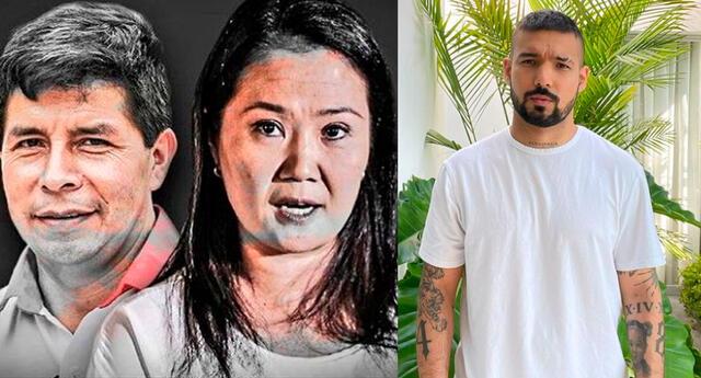El cantante Ezio Oliva preguntó sus seguidores quién fue el ganador del debate entre Keiko Fujimori y Pedro Castillo.