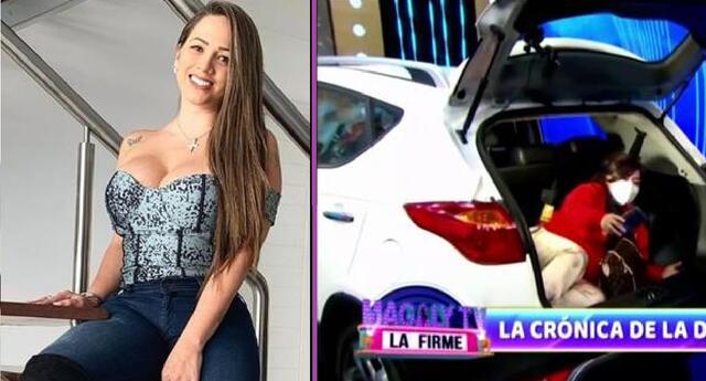 Melissa Klug quiso pasar desapercibida con su auspicio a Canchita, pero Magaly la evidenció.