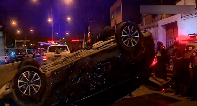 se registró un accidente vehicular durante una persecución policial