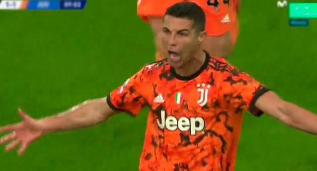 Cristiano Ronaldo marcó un doblete para Juventus.